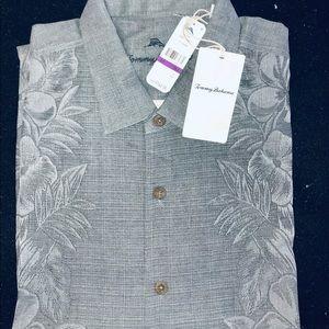 Tommy Bahama Short Sleeve Silk Shirt 2XB NWT